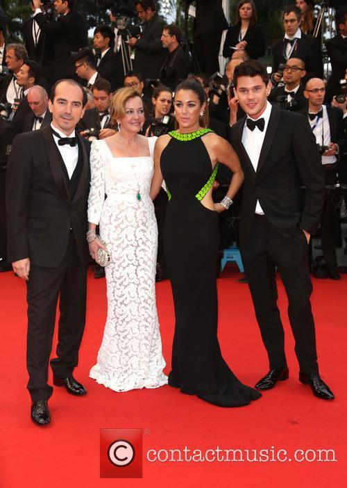 Caroline Scheufele, Blanca Suarez and Jeremy Irvine 2