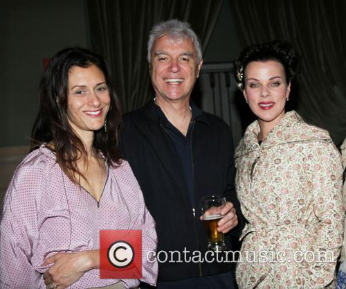 Sally Singer, David Byrne and Debi Mazar