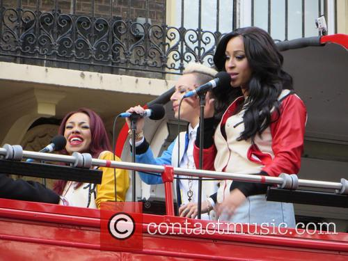 Stooshe Preform On Top Of A Red London...
