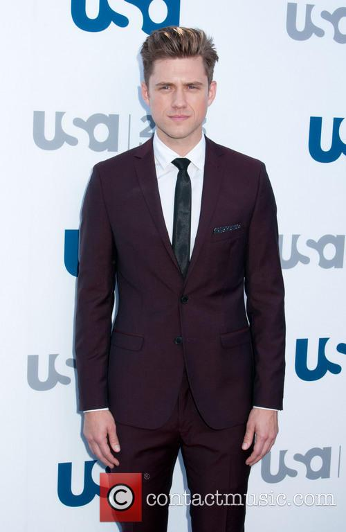 aaron tveit 2013 usa network upfronts held 3669205
