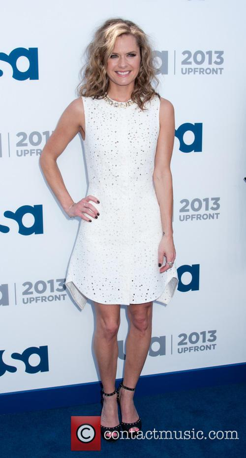 maggie lawson 2013 usa network upfronts held 3669219
