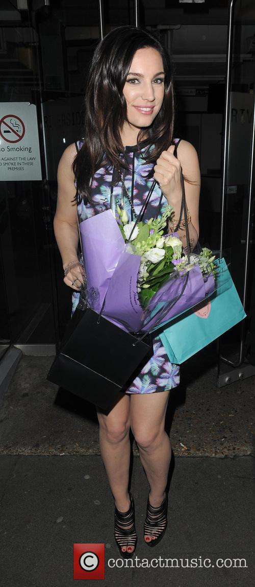 Kelly Brook leaving the Riverside Studios