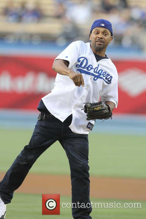 mike epps celebrities at the la dodgers 3666130