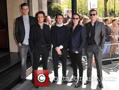 The Maccabees, Orlando Weeks, Felix White, Rupert Jarvis, Hugo White and Ivor Novello 1