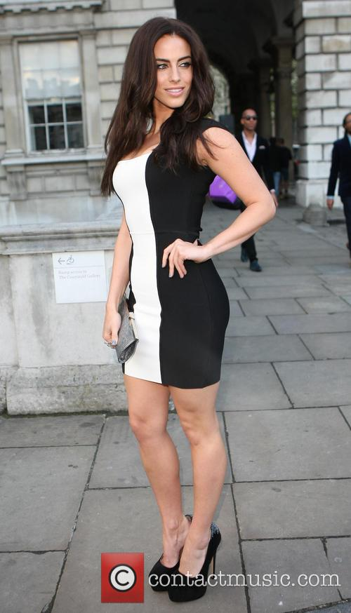 Jessica Lowndes and Thom Evans outside Somerset House