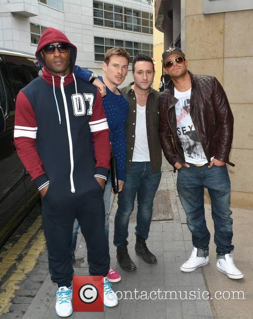 Simon Webbe, Lee Ryan, Antony Costa, Duncan James and Blue 4
