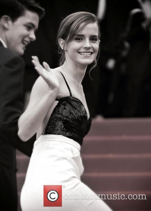 Emma Watson Cannes B&W