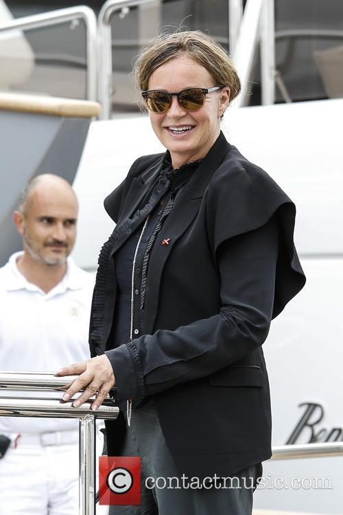 Eva Cavalli onboard her yacht