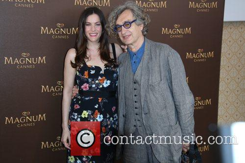 Liv Tyler and Wim Wenders posing at Magnum...