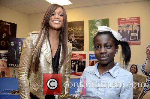 Rapper-songwriter Eve attends a meet and greet with...