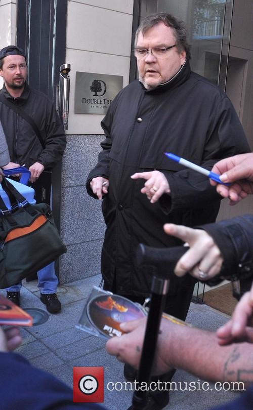 Meat Loaf leaving his Dublin hotel ahead of...