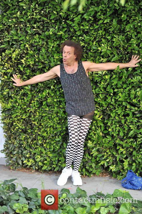Richard Simmons poses for photographs in beverly hills