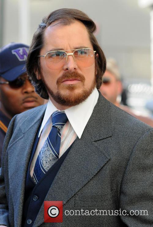 Christian Bale, American Hustle Set