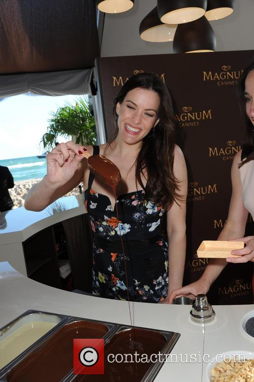 Liv Tyler at the Magnum private beach in...