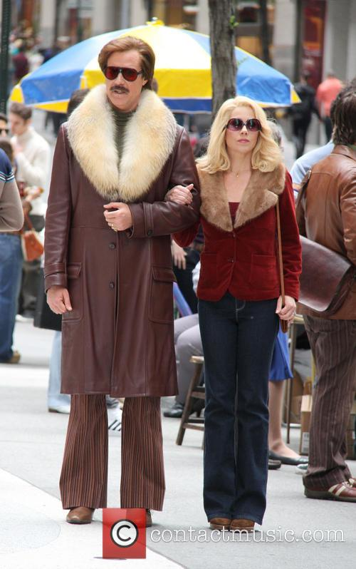 Anchorman: The Legend Continues' film set
