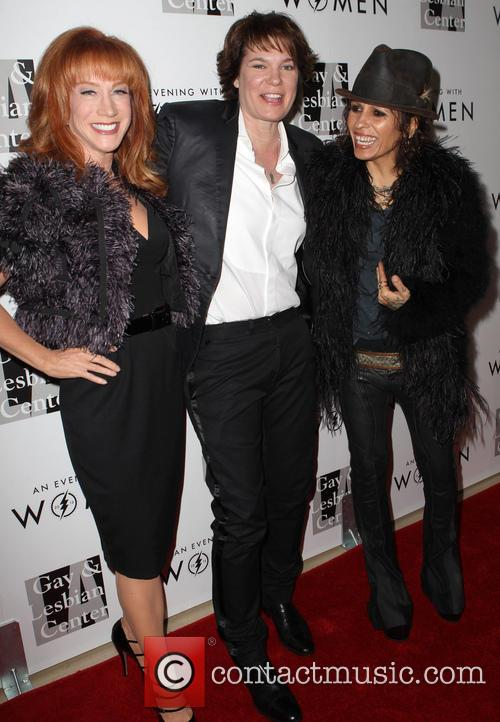 Kathy Griffin, Michelle Wolff and Linda Perry 3