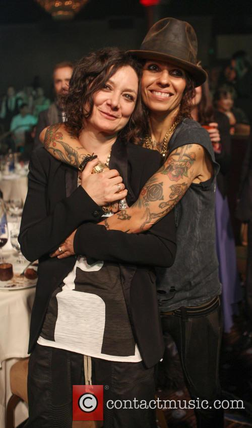 sara gilbert linda perry the la gay and 3672996