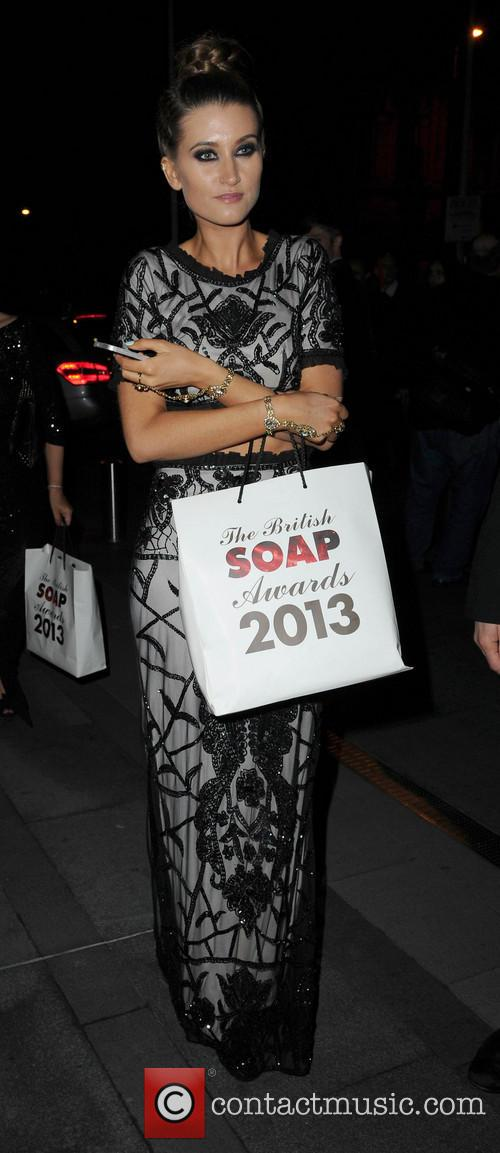 charley webb celebrities arriving back at their 3673081