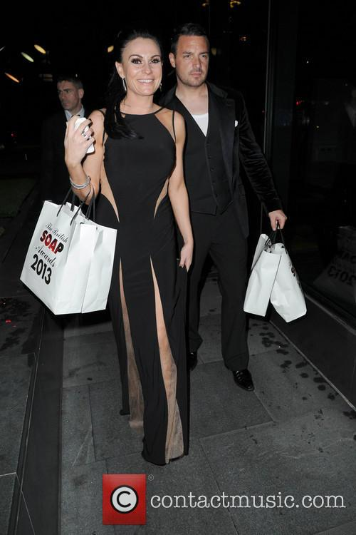 lucy pargeter celebrities arriving back at their 3673097