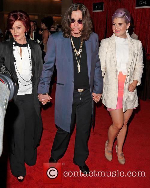 Sharon Osbourne, Ozzy Osbourne, Kelly Osbourne,  Beverly Hilton Hotel
