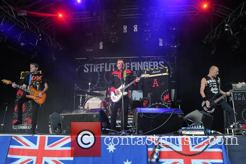 Stiff Little Fingers, Ali Mcmordie, Jake Burns and Henry Cluney