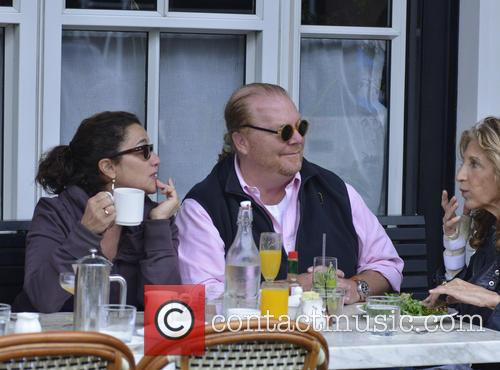 Chef Mario Batali out to brunch with his...