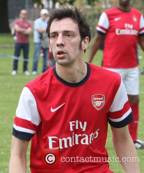 Ralf Little plays for Arsenal Legends