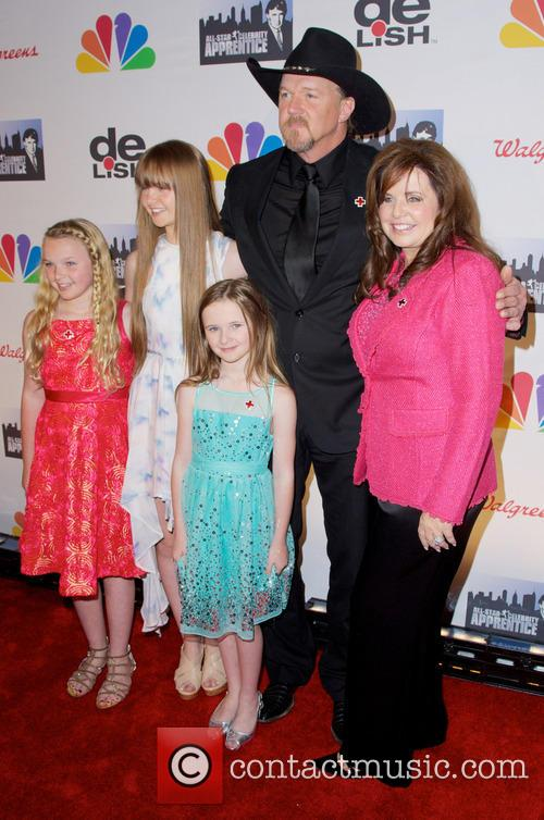 Trace Adkins and family