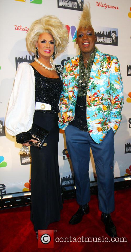 James Davis, Elaine Lancaster and Dennis Rodman 1