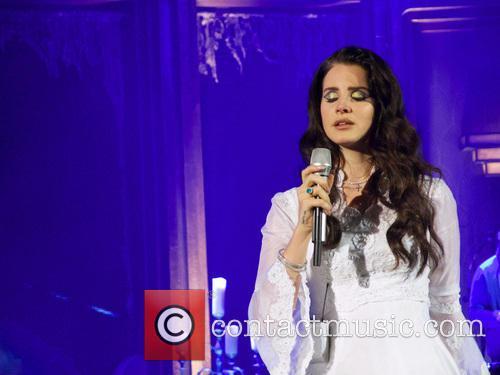 Lana Del Rey performing at the Hammersmith Apollo