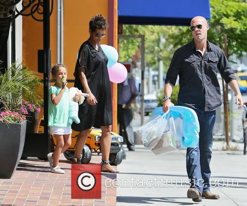 Halle Berry, Nahla Berry and Bodyguard 6