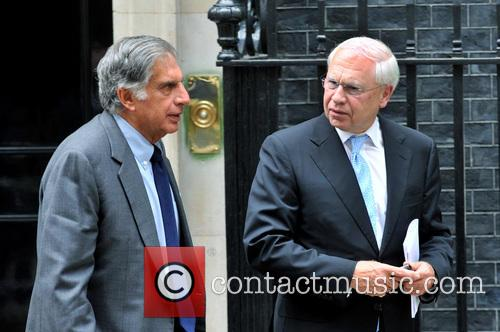 Ratan Tata, Chair, Tata Group (l), Dick Olver, Chairman and Bae Systems (r) 1