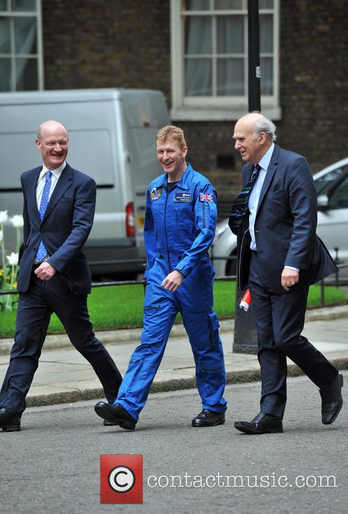 UK astronaut Tim Peake arrives at 10 Downing...