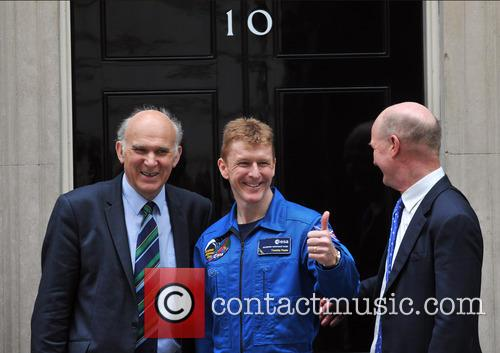 UK astronaut Tim Peake arrives at 10 Downing...
