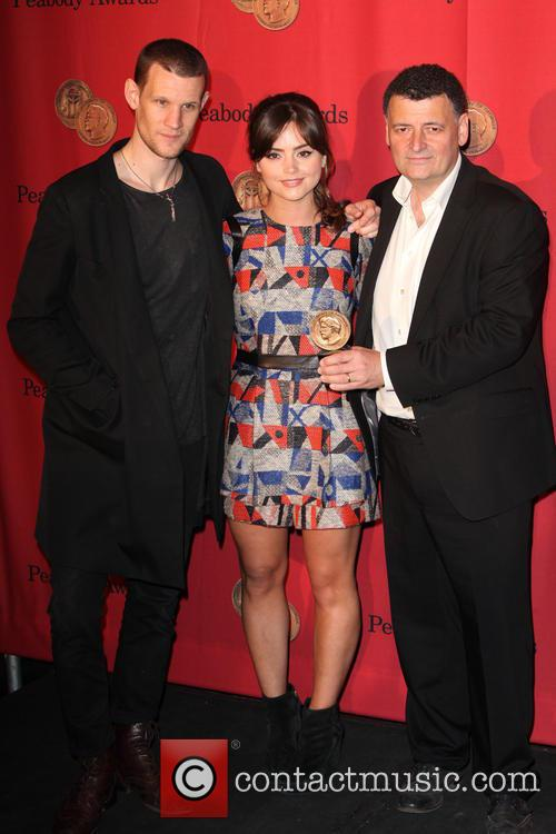 Matt Smith, Jenna Coleman and Stephen Moffat