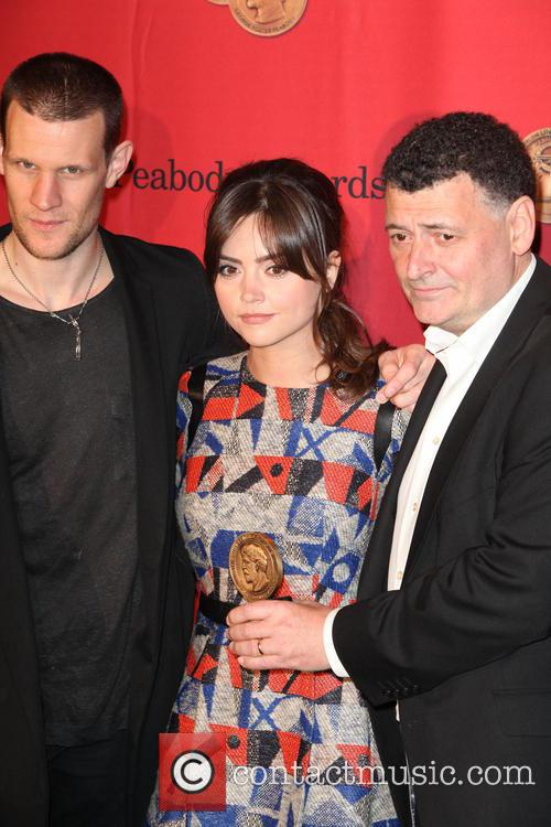 Matt Smith, Jenna Coleman and Steven Moffat