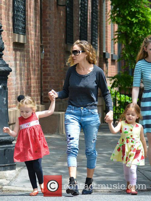 Sarah Jessica Parker out with her twins in...