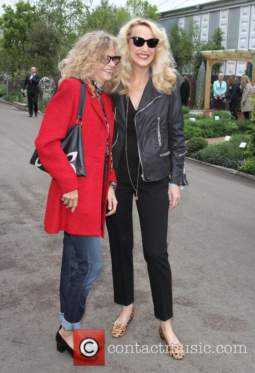 Suzanne Wyman and Jerry Hall 1