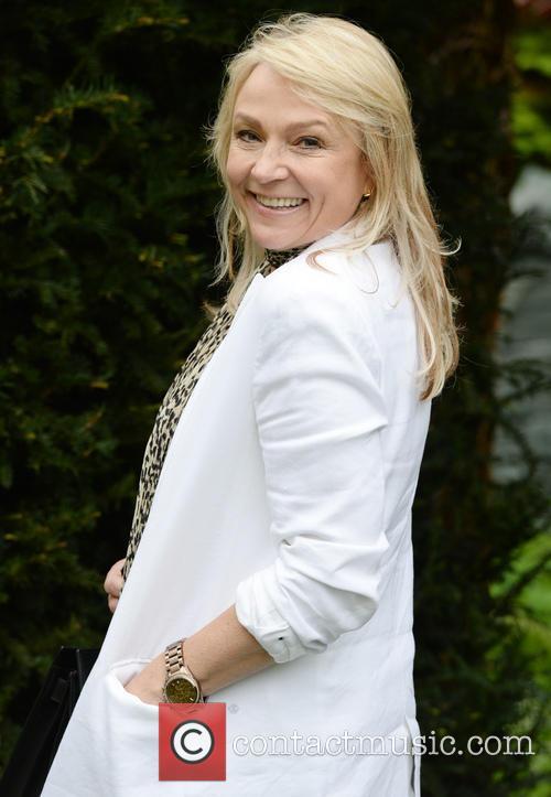 Helen Fielding at the Chelsea Flower Show