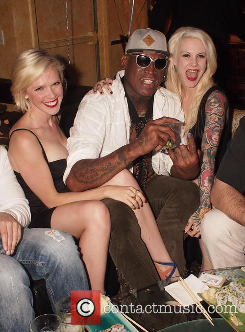 Dennis Rodman celebrates his birthday at the Cheetah...