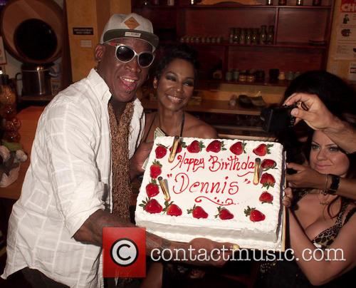 Dennis Rodman celebrates his birthday at the Cheetah Men's Club
