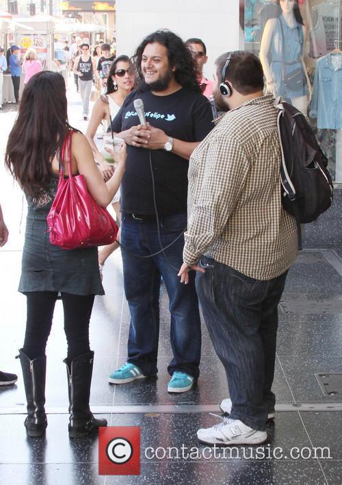Felipe Esparza interviews members of the public