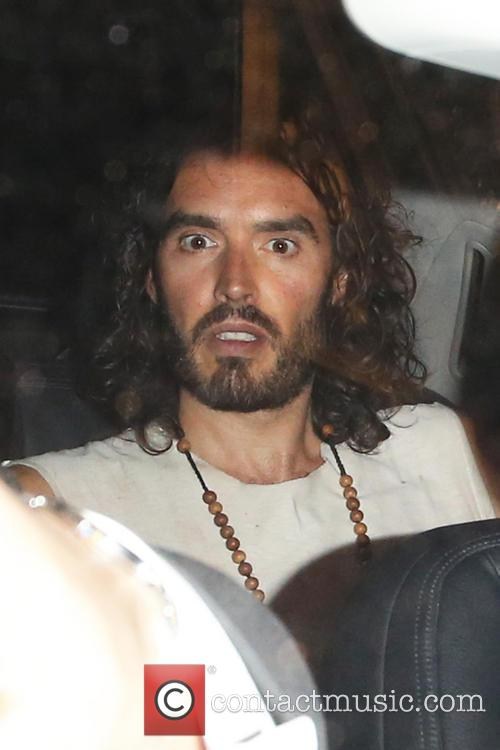 Russell Brand leaving the Lyric Theatre
