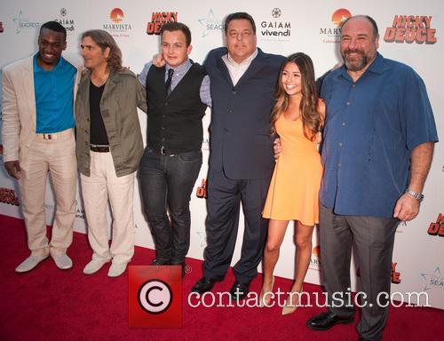 James Gandolfini, Michael Imperioli, Cristine Prosperi, Noah Munck and Cassius Crieghtney 2
