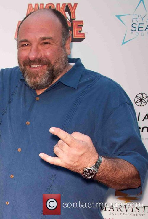 James Gandolfini at 'Nicky Deuce' LA premiere