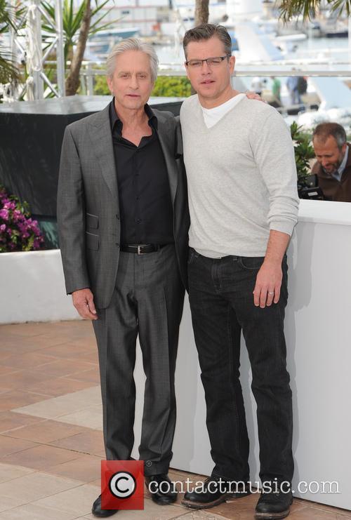 Michael Douglas and Matt Damon 19