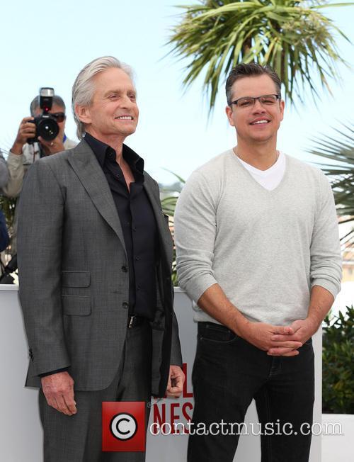 Michael Douglas and Matt Damon 26