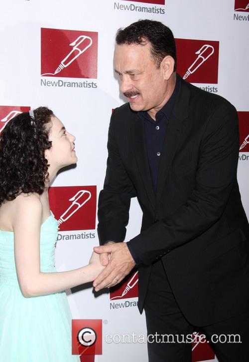 Lilla Crawford and Tom Hanks 2