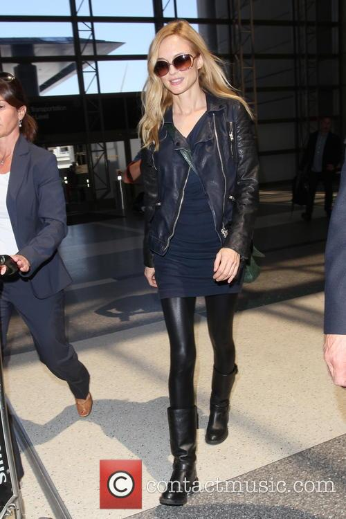 Heather Graham, LAX airport