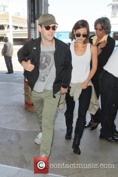 Justin Bartha, Mia Smith, LAX Airport